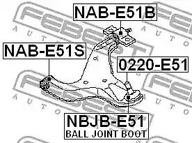 Front Ball Joint Boot for Nissan Elgrand