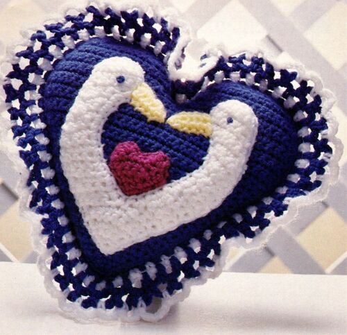 CUTE Geese /& Hearts Pillow//CROCHET PATTERN INSTRUCTIONS ONLY