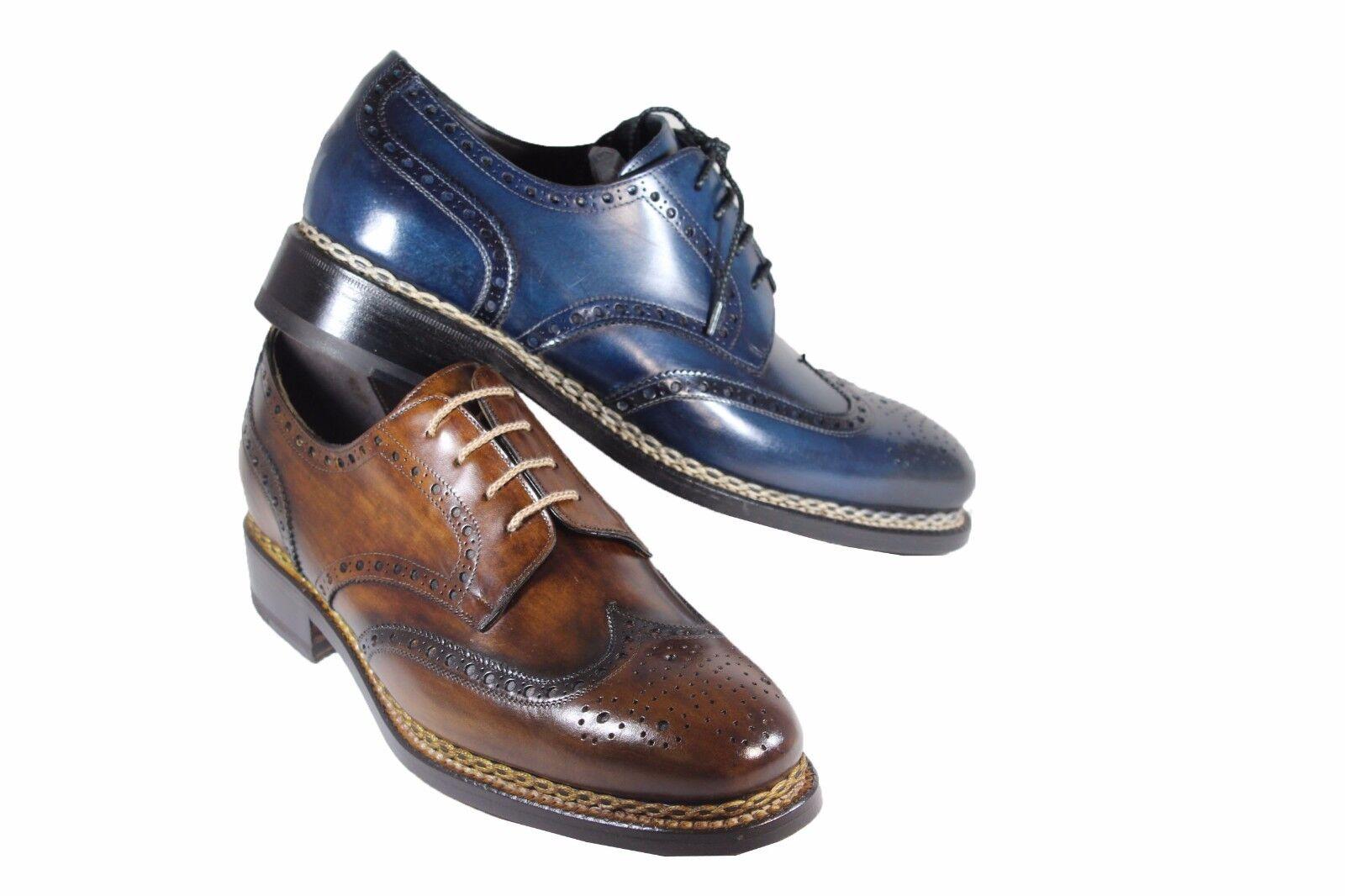 HARRIS leather derby brogue stringate eleganti stile inglese cucitura norvegese