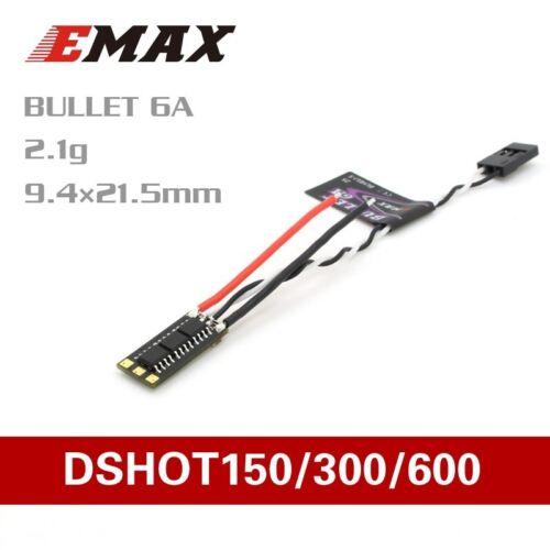 EMX-SC-1770 EMAX Emax Bullet Series 6A Dshot ESC w//BLHeli/_S FPV Quad ESC