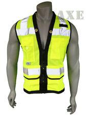 Pyramex Safety Vest Class 2 Heavy Duty Surveyor Lime