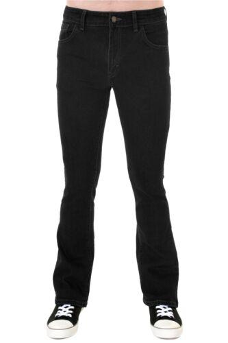 Fly denim Run bootcut stretch Jeans '70 Mens nero vintage 60s anni Z5w8gdRx