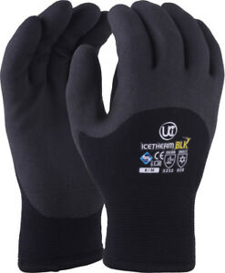 Uci-Icetherm-Blk-Thermal-Isole-3-4-Revetu-Froid-Travail-Gants-Hiver-Congelateur