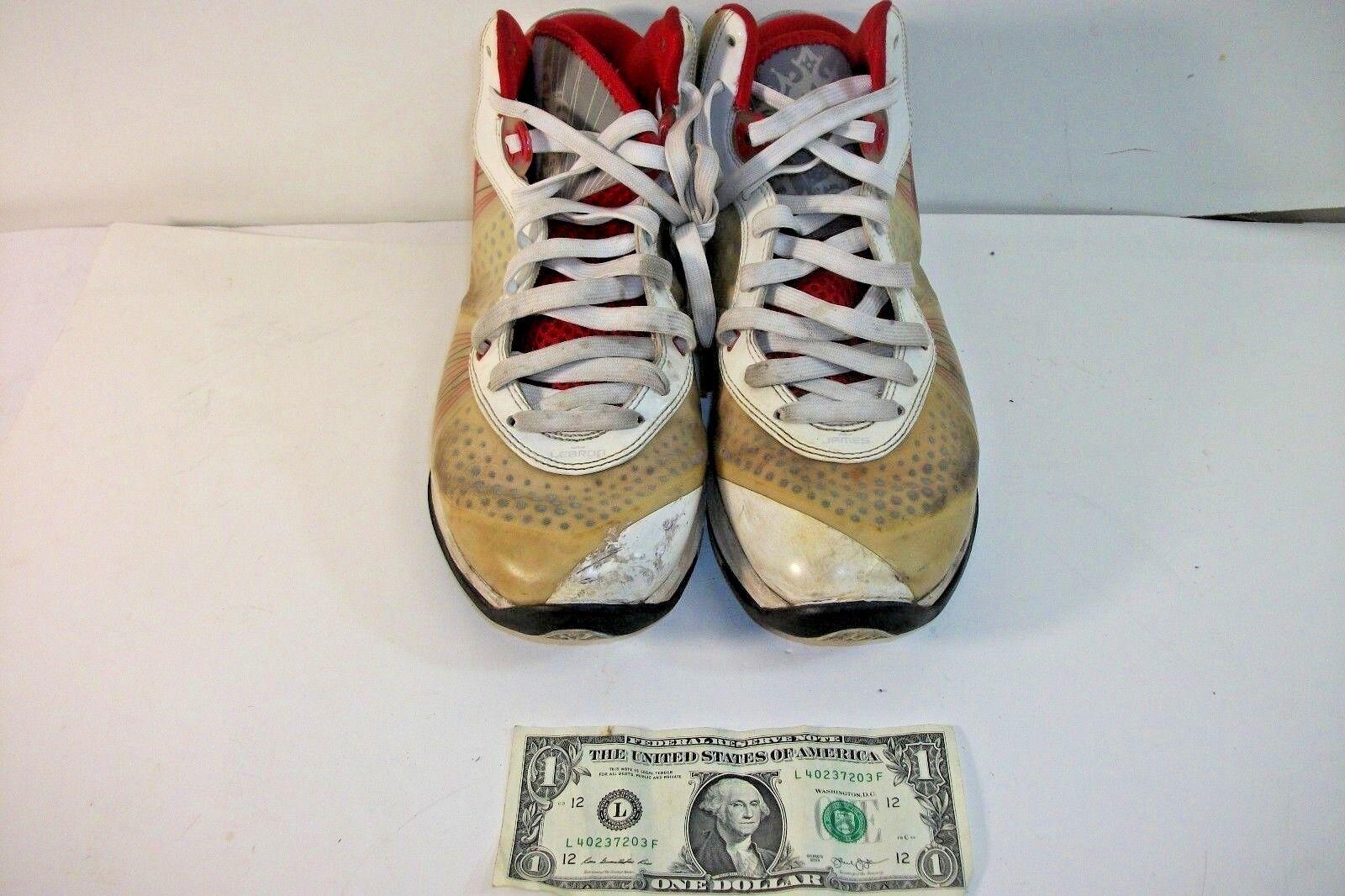 Nike scarpe air max lebron james flywire tan red Uomo scarpe Nike da basket scarpe 9,5 7a5da2