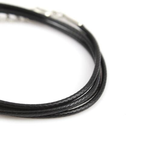 Homard Fermoir Tresse Corde Cordon Bijoux Craft environ 60.96 cm Collier 100 X en Cuir Synthétique 24 in