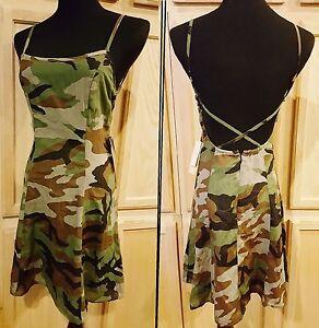 Camouflage 98 Open Back Lauren Ralph Flare Denim Fit Slip Dress Supply qwF7BpxH1