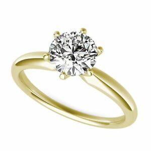 2ct-Round-Cut-Classic-Solitaire-Engagement-Promise-Ring-Solid-14k-Yellow-Gold