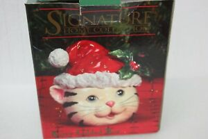Signature-Home-Collection-Xmas-Holiday-Christmas-Candy-Trinket-Kitty-Lidded-Box