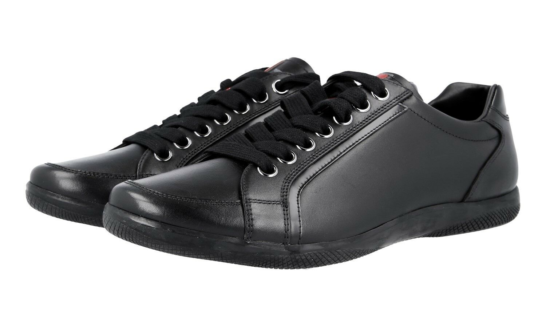 AUTHENTIC LUXURY PRADA SNEAKERS SHOES 4E2439 BLACK NEW US 10.5 EU 43,5 44