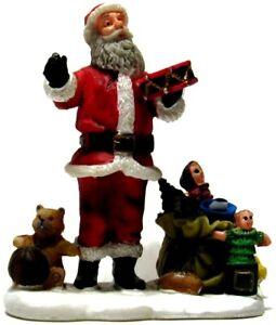 Lemax Christmas Village Scene Figure Santa Claus Bag Toys Drum Jack Teddy Doll