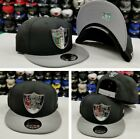 New Era Silver Metal Badge Shield NFL Oakland Raiders 950 Snapback hat Black