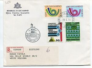 Courageux 1973 Fdc San Marino Europa Bologna Registered Raccomandata First Day Cover Design Moderne