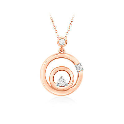 1//6 Ct 100/% Natural Diamond 10k Rose Gold Lariat Y Shaped Necklace Pendant Chain