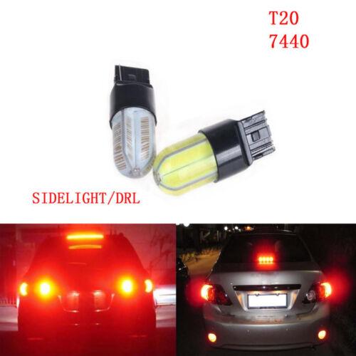 2X T20 COB LED 7440//7743 W21//5W T20 DRL Reverse Lámpara De Cola Parada de luz de freno