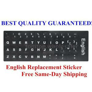 Details about English QWERTY Standard Non-transparent Keyboard Layout  Durable Stickers