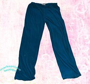 8b738955b49ac Details about RANDOLPH DUKE THE LOOK Midnight Blue Elastic Waist PANTS  Polyester Spandex L