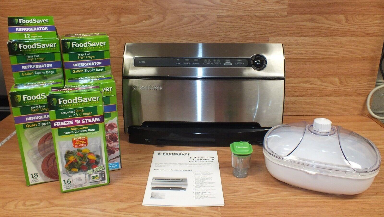 Genuine Food Saver (V3825) inoxydable scelleuse sous vide pour conserver les aliments frais  + extras