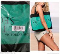 Victoria's Secret 2015 Colorblock Tote Book Shopper Bag Blue Green Teal Gym