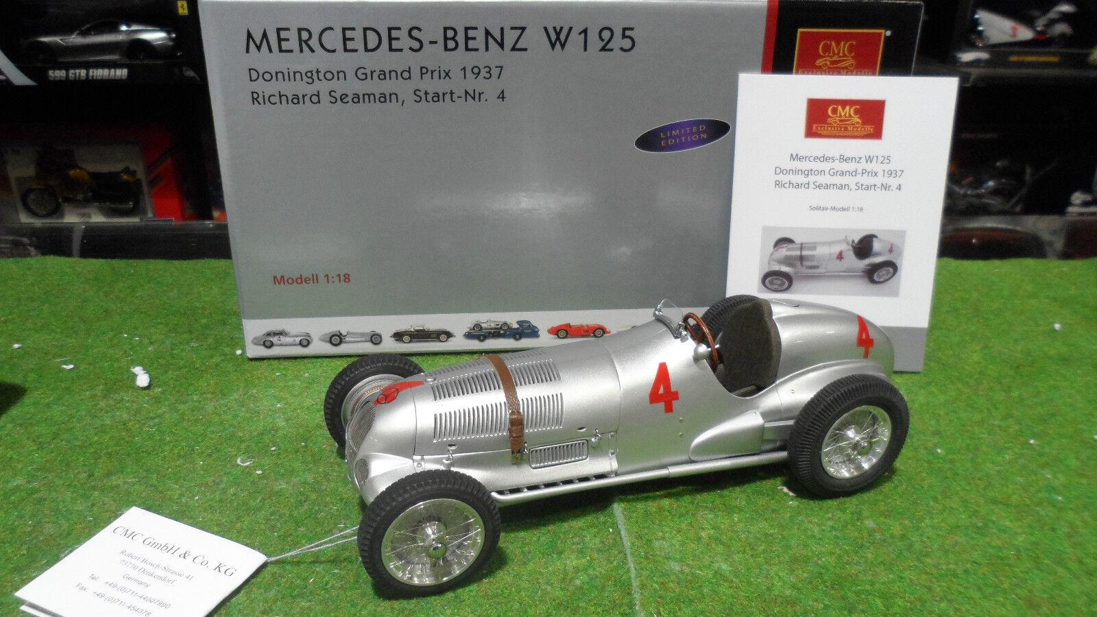 MERCEDES BENZ W125 1937 SEAuomo   4 GP Donington 1 18 CMC M-116 F1 formule 1 voit