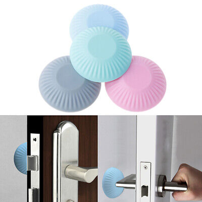 IoYoI White 1.5 Inch Door Stopper Wall Protector Shield Self Adhesive Handle Bumper Rubber Stop 6 pcs