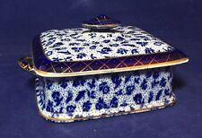 Antique Vintage Grimwades Sardine Dish Blue & White Early Chintz 1930's