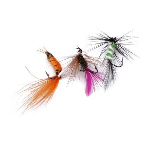 10Pcs Outdoor Fishing Fly Hook Set Imitation Fly Hook Fake Bait SA