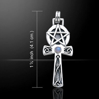 Pentagram Ankh .925 Sterling Silver Pendant by Peter Stone