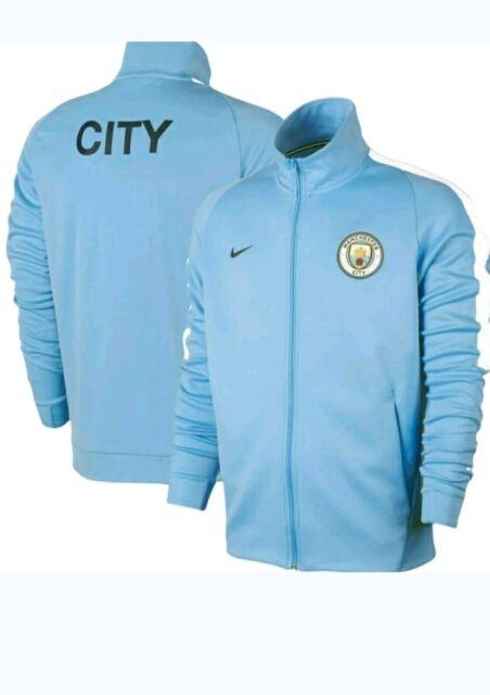 buy popular 74f47 daaa5 Nike FC Manchester City Franchise Light Blue Track Jacket 868926-488 Mens  SM BNW