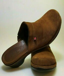 Ecco Casual Comfort Mule Clog Camel