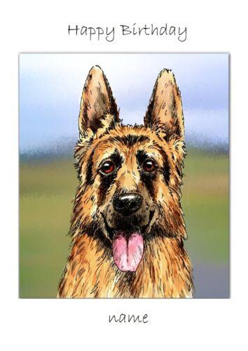 German Shepherd any occasion Dog Walker Congratulations Thank you Christmas