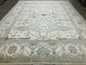 9x12 NEW MUTED HAND-KNOTTED RUG WOOL handmade modern contemporary neutral carpet