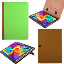 """Green/Brown PU Tablet Stand Cover Folio Case for Samsung Galaxy Tab S2 10"""" 10.1"""""""