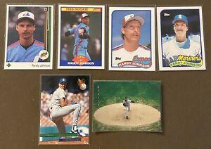 HOFer-Randy-Johnson-6-card-lot-including-4-ROOKIE-CARDS-1989-UD-Score-Topps-TT