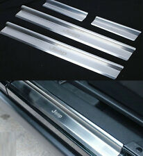 Stainless 4 Door Sill Entry Guards Plates 4 pcs set for 07-15 Jeep Wrangler JK