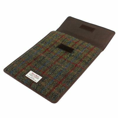 Energiek Harris Tweed Mini Tablet Sleeve Case (breanais Green) In British Bag Co Gift Box
