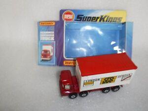 Camion de conteneur Scammell K-24 Vintage Matchbox Superkings en boîte inutilisé