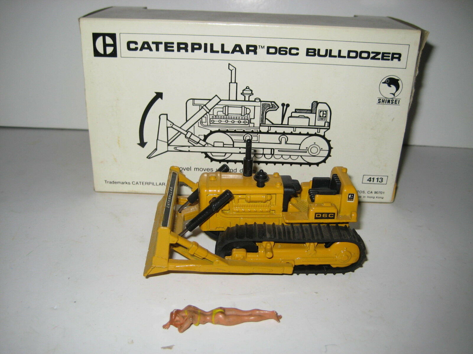 Caterpillar D 6 C Bulldozer Stripes Logo Ripper Shinsei 1 52 Pack Orig.