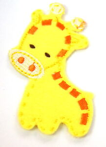 CUTE-BABY-GIRAFFE-Embroidered-Iron-Sew-On-Cloth-Patch-Badge-APPLIQUE