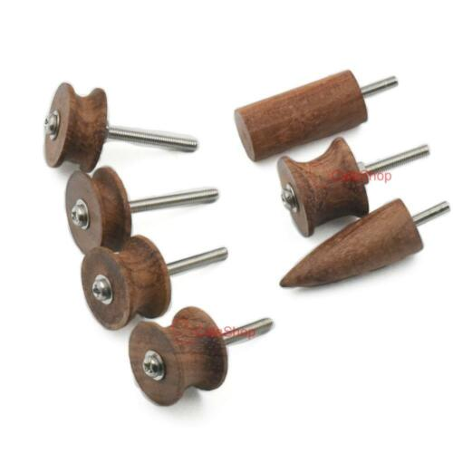 7 PCS Chaser Leather Craft Burnisher Kits Cocobolo Leather Tool Slicker Skirt Pi