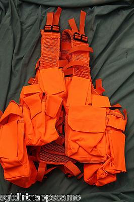 Blaze Orange Hunting Vest/ South African/ Rhodesian Style Police Tactical Vest
