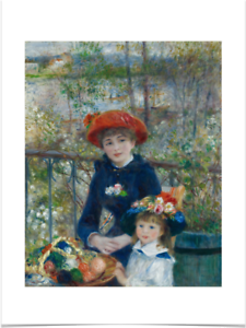 PIERRE-AUGUSTE-RENOIR-TWO-SISTERS-BIG-BORDERS-LIMITED-EDITION-ART-PRINT-18X24