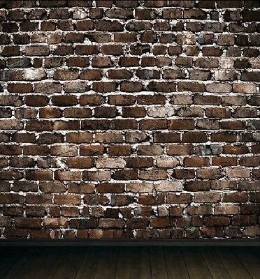 Brick Wall  Floor Gallery Vinyl Photo Studio Backdrops Wedding Backgrounds 5x7ft