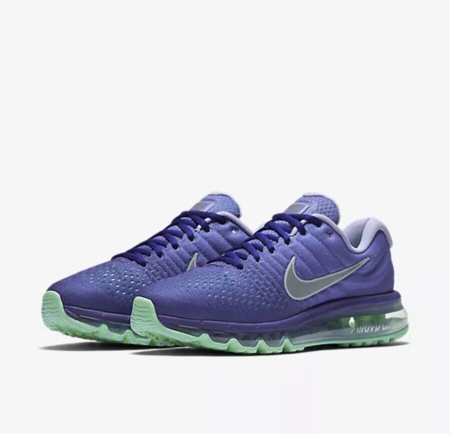 Nike Women's Air Max 2017 Running Shoe, 849560 402, Concord Violet, Size 7