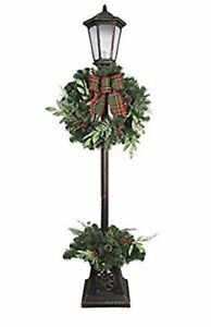 Details About New 7 Ft Pre Lit Led Lamp Post Christmas Decoration Tree Wreath