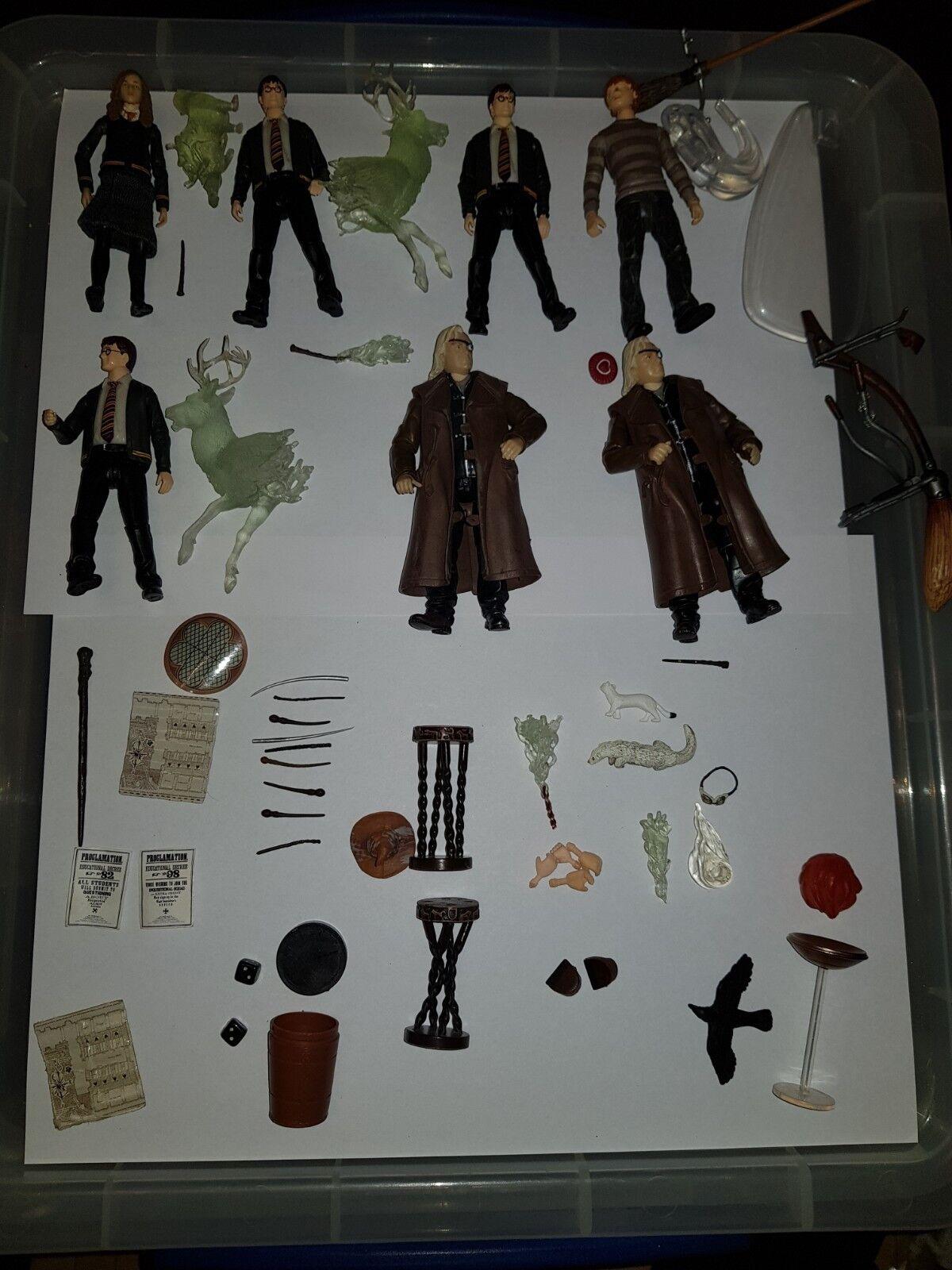 Harry Potter Trabajo Lote 2 figuras popco Varitas Moody Ron Weasly clasificación Sombrero Ginny