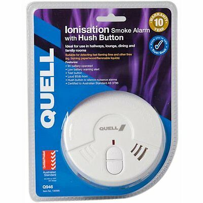 QUELL Ionisation Smoke Alarm with Hush