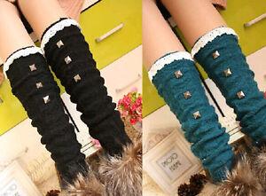 Knitted-Socks-Women-Winter-Leg-Warmer-Gifts-Crochet-Leggings-Lace-Boot-Toppers