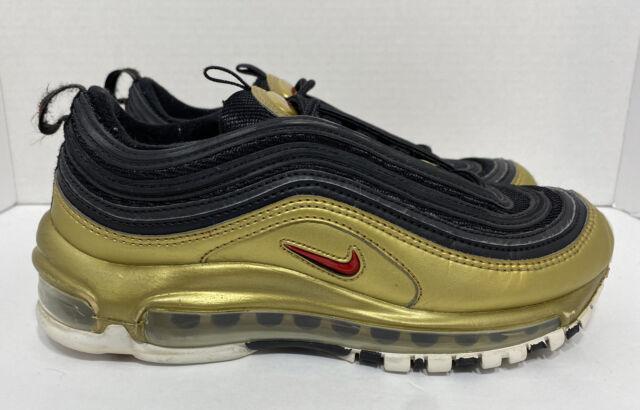 Nike Air Max 97 QS Metallic Gold Black AT5458-002  US Size 4.5