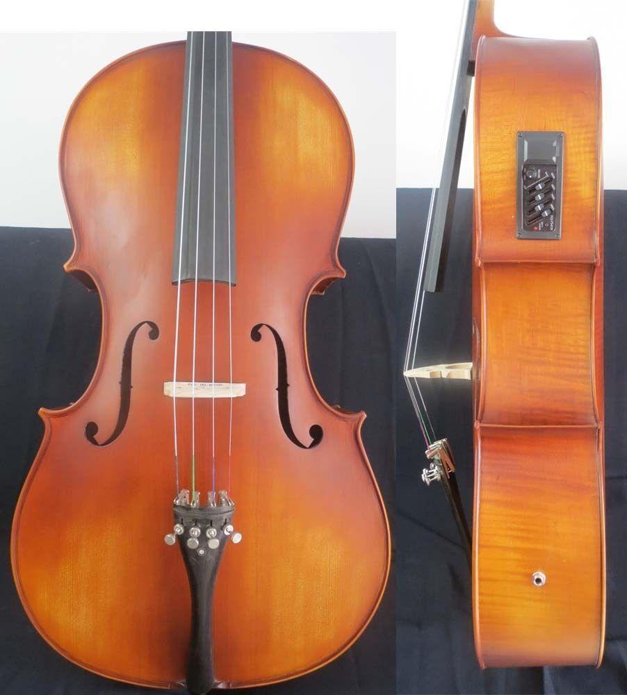 Brown color electric cello 4 4,Acoustic cello 4 4