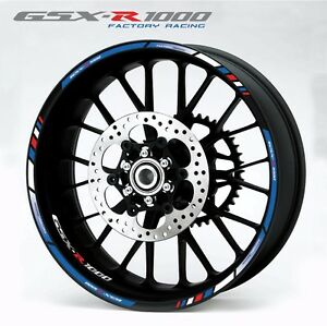 Suzuki GSXR  Motorcycle Wheel Decals  Rim Stickers - Stickers for motorcycles suzuki